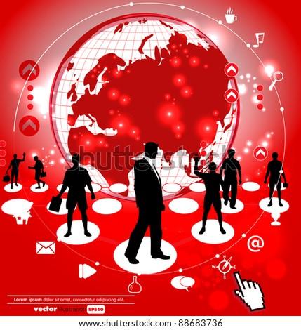 World organization - stock vector