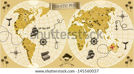 World pirate map