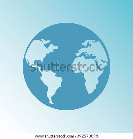 world planet icon design, vector illustration eps10 graphic  - stock vector