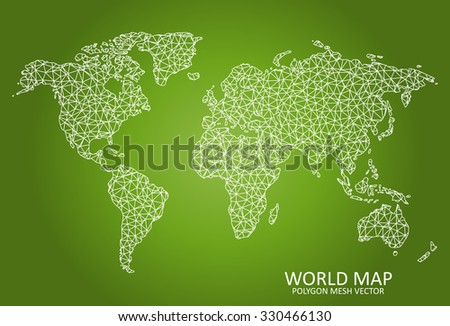 World -  Polygon Mesh Map - stock vector