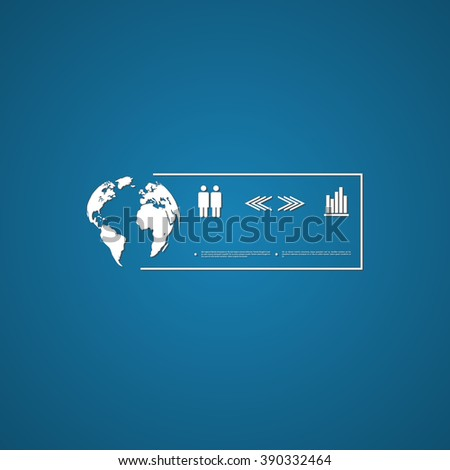 World population signs - stock vector