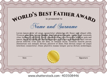 Worlds best dad award template background stock vector 403508446 worlds best dad award template with background customizable easy to edit and change yadclub Gallery