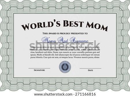 worlds best mom award