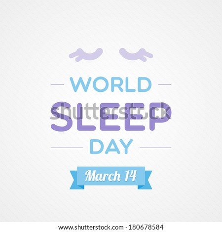 World Sleep Day - stock vector