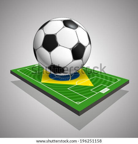 World soccer championship in Brazil illustration - stock vector