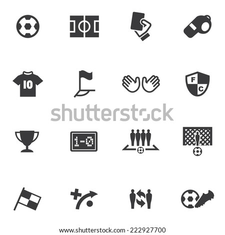 World Soccer Silhouette icons 1 - stock vector