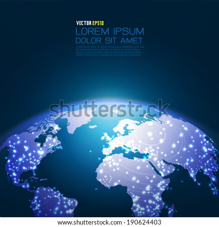 World technology network background, vector illustration
