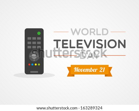 World Television Day - stock vector