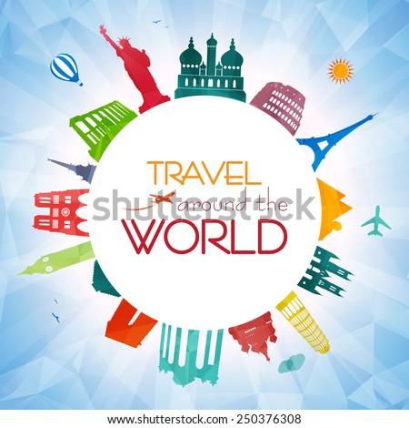 World travel - stock vector
