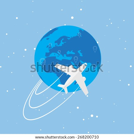 World travel and tourism concept illustration. - stock vector