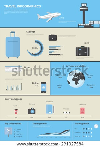 World Travel Business Infographic . Vector illustration - stock vector
