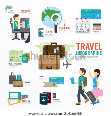 World Travel Business Template Design Infographic . Concept Vector illustration - stock vector