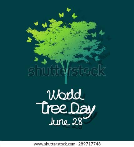 World tree day concept vector illustration. - stock vector