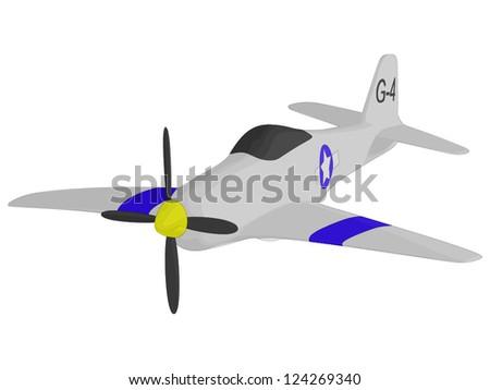 World War 2 Fighter - stock vector