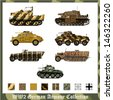 World War 2 German armor with camouflage - stock photo