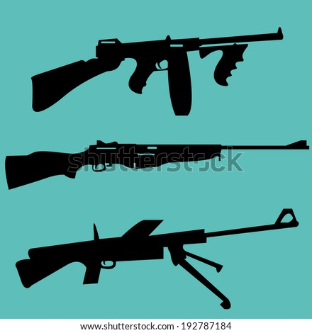 World War II weapons icon set