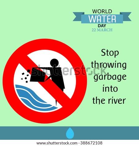 World water day illustration cartoon design 04 - stock vector