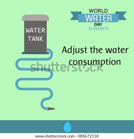 World water day illustration cartoon design 07 - stock vector