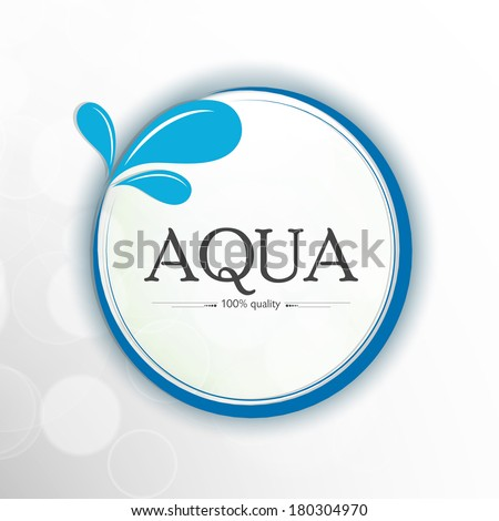 World Water Day sticker, tag or label design with stylish text Aqua and splash on grey background.  - stock vector