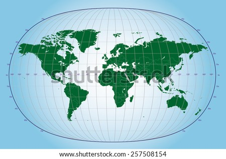 World Wide Time Zones (Vector Illustration) - stock vector
