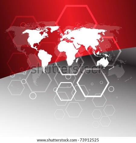 Worldwide business concept. Clip-art - stock vector