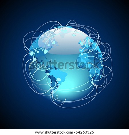 Worldwide connections concept. Vector illustration. - stock vector