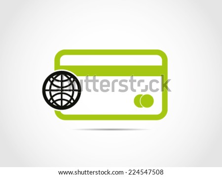 Worldwide Credit Debit Card - stock vector