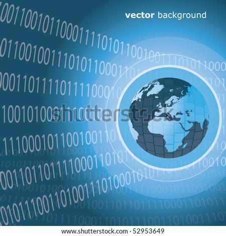 Worldwide Information Background - stock vector