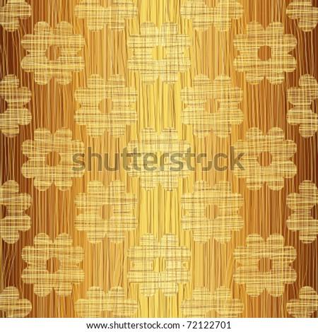 Woven gold interlacing - stock vector
