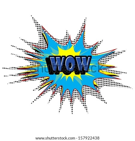 WOW Comic book explosion vector illustration background - stock vector