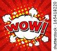 Wow! Comic Speech Bubble, Cartoon  - stock