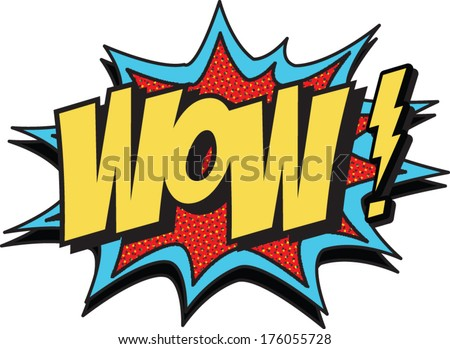wow new - stock vector