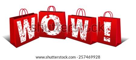 Wow Price - Wow item - stock vector