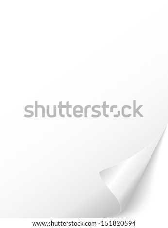 wrapped Page. sticker. post it - stock vector