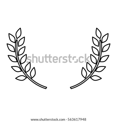 wreath leaves ornament stock vector royalty free 563617948