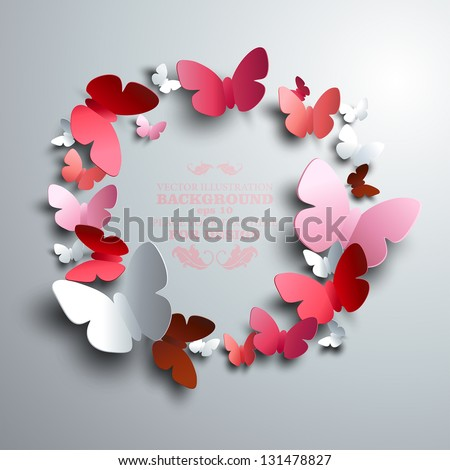 Butterfly stock photos royalty free images vectors for White paper butterflies
