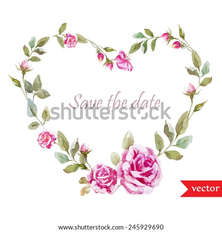 heart floral frame valentine - photo #10