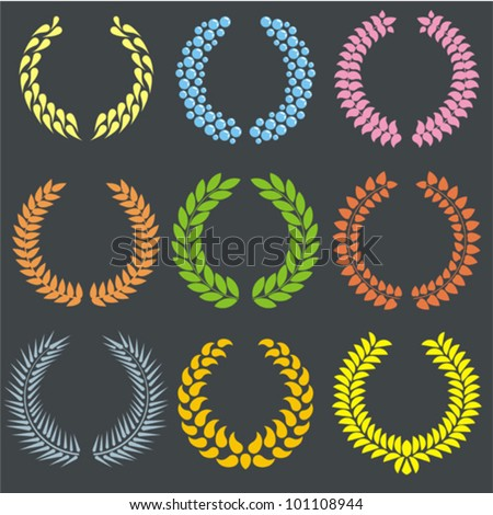 wreaths vector set - stock vector