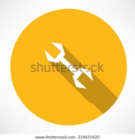 wrench icon - stock vector