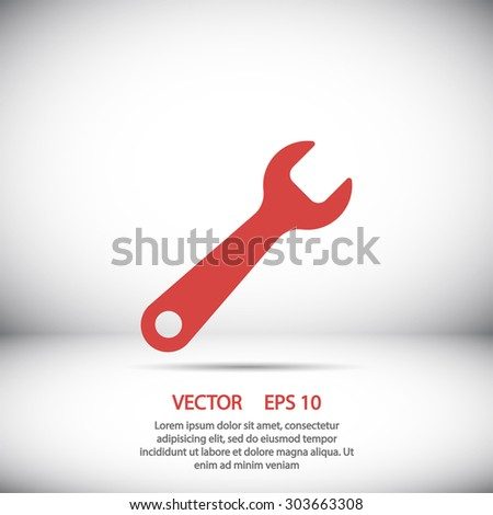 wrench icon. One of set web icons