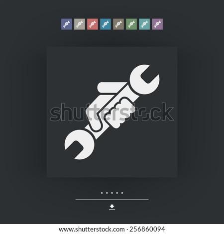 Wrench symbol icon - stock vector