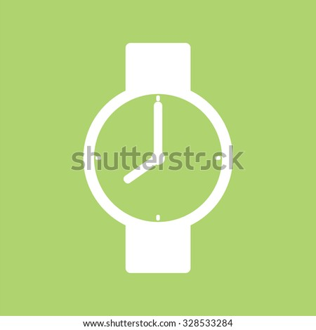 Wrist watch icon. - stock vector