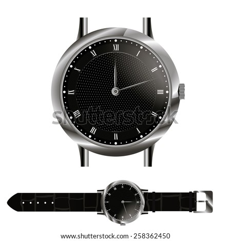 wristlet watch - stock vector