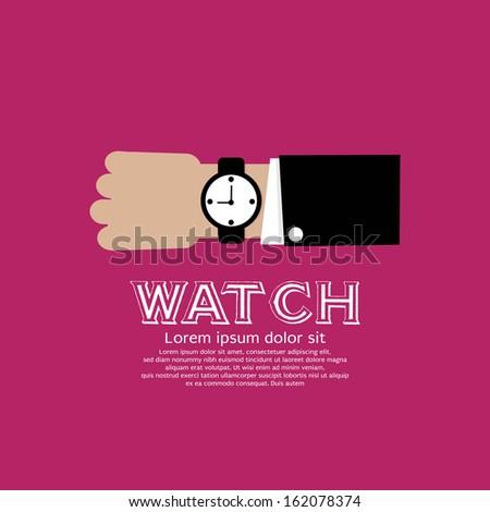 Wristwatch Vector Illustration EPS10 - stock vector