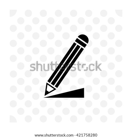 Write a note icon. Write a note vector. Simple icon isolated on white background. - stock vector