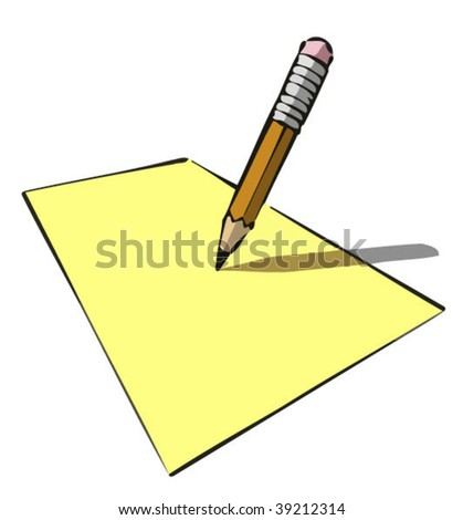 Write note - stock vector