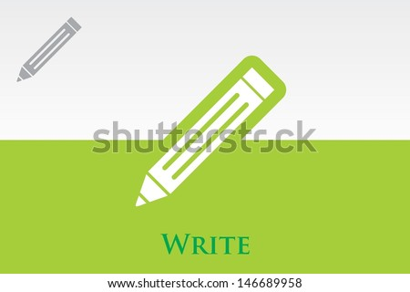 Write (Pencil) Icon - stock vector