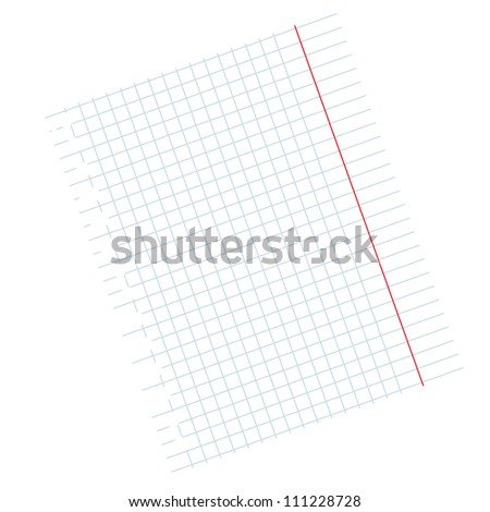 writing-book leaf in a cage on a white background.Vector - stock vector