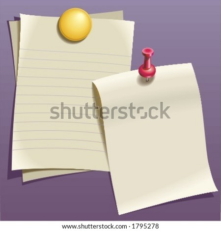 Writing paper - stock vector