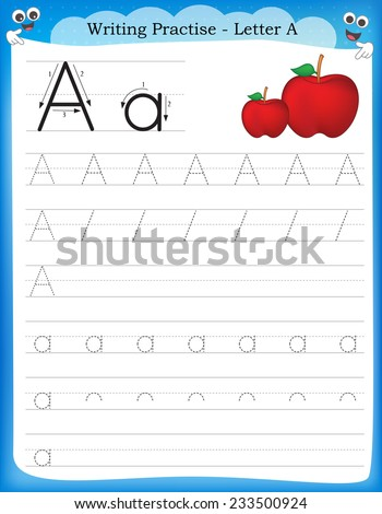 Letter k handwriting worksheets for kindergarten